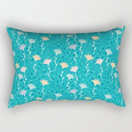 Washed out flowers pattern. Rectangular Pillow