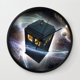 TARDIS STARRY NIGHT Wall Clock