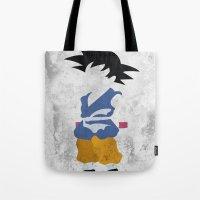 goku Tote Bags featuring Goku  by JHTY