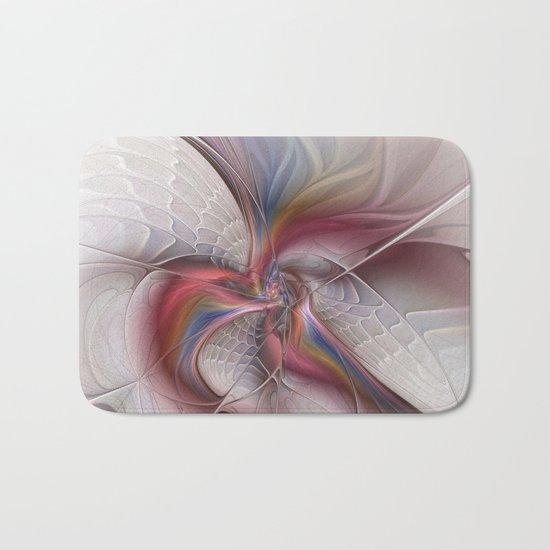 Abstract Dancing, Fractal Art Bath Mat