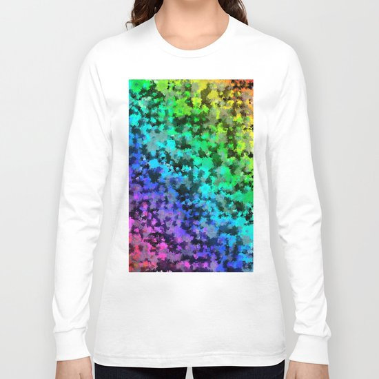 Starrider -- Abstract cubist color expansion Long Sleeve T-shirt