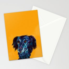 Turquoise Lurcher Stationery Cards