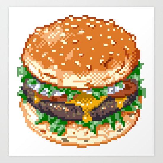 Burger Art Print By Noirlac Society6
