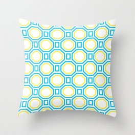 Blue Harmony in Symmetry Throw Pillow