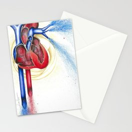 Anatomical Heart, Abstract blood Stationery Cards