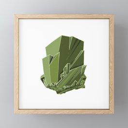 Emerald Gem Framed Mini Art Print