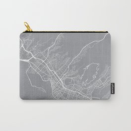 Honolulu Map, Hawaii USA - Pewter Carry-All Pouch