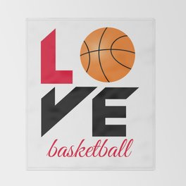 Love basketball Throw Blanket