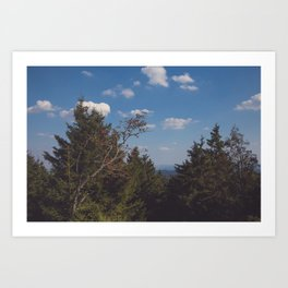 Brocken View Art Print