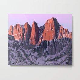 John Muir Mountains Metal Print