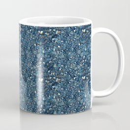 Aqua Blue Aurora Borealis Close-Up Crystal Coffee Mug