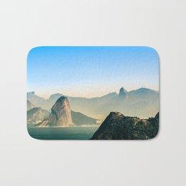 Rio de Janeiro Panoramic Photography Bath Mat