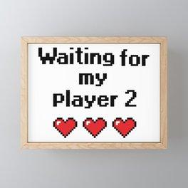 Waiting for my player 2 Framed Mini Art Print