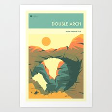 ARCHES NATIONAL PARK POSTER (Double Arch) Art Print