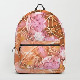 Flower of Life Mandalas 18 Backpack