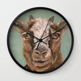 Nursery Art / Decor - Barnyard Baby Goat Wall Clock