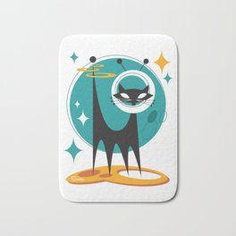 Atomic Space Cat Mid Century Modern Art Scooter Bath Mat