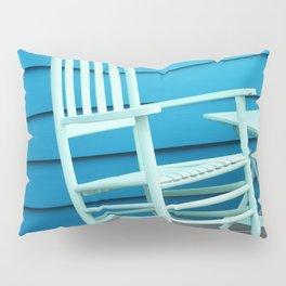 Coastal Beach House Art - Blue Rocking Chair - Sharon Cummings Pillow Sham
