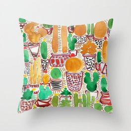 Golden Nugget Plants Throw Pillow