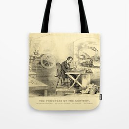 The Progress of the Century (Currier & Ives) Tote Bag