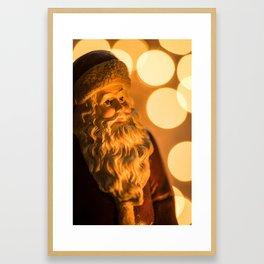 Must be Santa Framed Art Print