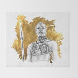 Okoye Warrior Woman #Blackpanther #wakanda Throw Blanket