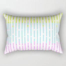 summer stripes in neon colors Rectangular Pillow