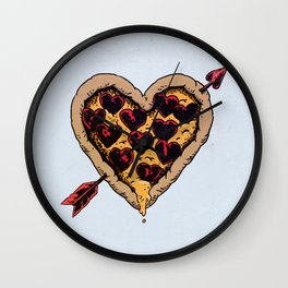 Pizza Love Wall Clock
