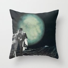 Moon Strolling Throw Pillow