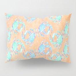 Crab orange blue nautical Pillow Sham