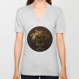 Crystal Mistletoe Unisex V-Neck
