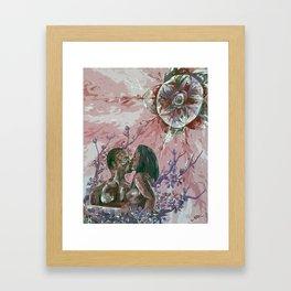 Cherry Blossom Moon Remix Framed Art Print