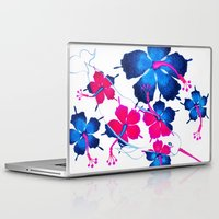 hawaiian Laptop & iPad Skins featuring Hawaiian Narwhal  by PastelxPalette