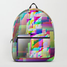 glitch abstract Backpack