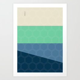 Geo Block No. 3 Art Print