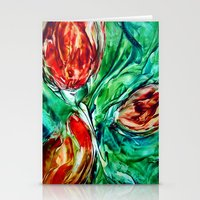 tulips Stationery Cards featuring Tulips  by ART de Luna