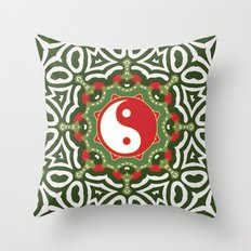 Holiday Festive Balance Yin Yang Throw Pillow