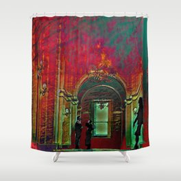 The Crushing Weight of Defeat:  Divide Shower Curtain