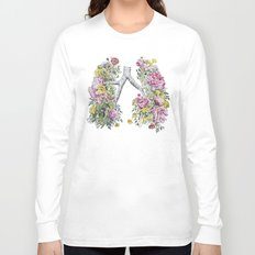 Floral Anatomy Lungs Long Sleeve T-shirt