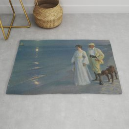 Summer Evening at Skagen beach. The artist and his wife. Rug