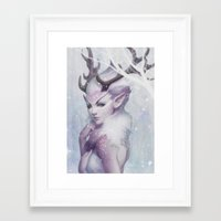 princess Framed Art Prints featuring Reindeer Princess by Artgerm™