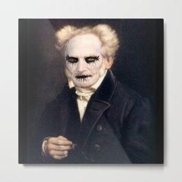 Black Metal Schopenhauer Metal Print
