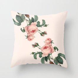 Butterflies in the Rose Garden Throw Pillow