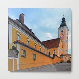 The village church of Niederwaldkirchen I | architectural photography Metal Print