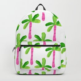 Watercolor Palm Trees in Pink Backpack