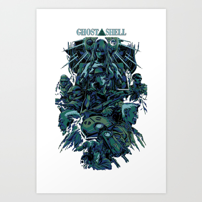 Ghost In The Shell Art Print by Remsoun42 PRN6471642