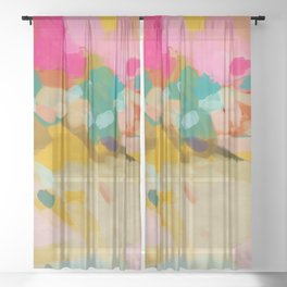 landscape light & color abstract Sheer Curtain