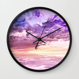 Floating in a Sea of Clouds Wall Clock