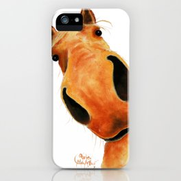 Happy Horse ' NuGGeT ' by Shirley MacArthur iPhone Case