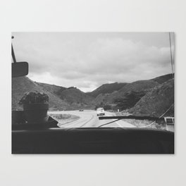 SOMEWHERE WITH HER (B+W) Canvas Print